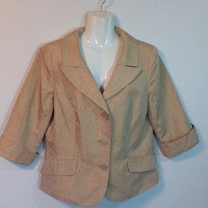 Dana Buchman Gold Brocade Silk Jacket